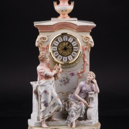 Фарфоровые часы Орфей и Эвридика, Karl Ens, Германия, кон. 19 - нач. 20 вв