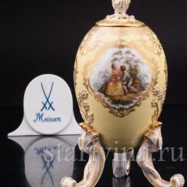 Антикварное фарфоровое Яйцо-шкатулка, Meissen, Германия, сер. 19 - нач. 20 вв.