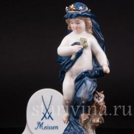 Антикварная статуэтка из фарфора Аллегория ночи, Meissen, Германия, 1860 - 1925 гг.